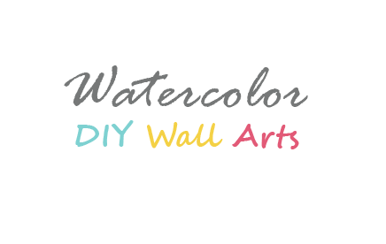 Watercolor DIY Painting ideas & Wall Decor